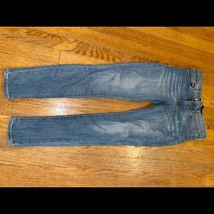 Express skinny blue jeans
